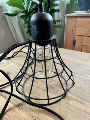 Modern Farmhouse Plug-in Wire Cage Lamp for Sale in Charlotte, NC