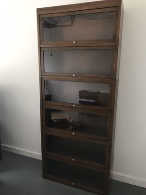 Antique, 6-section, lawyers barrister bookcases-2 matching sets for Sale in Coral Gables, FL