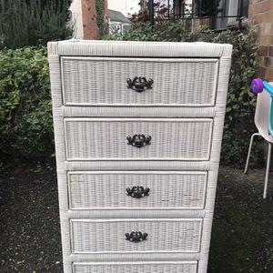 Wicker Dresser for Sale in Renton, WA