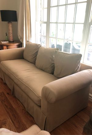 Room and Board chair and sofa - tan cotton canvas for Sale in Phoenix, AZ