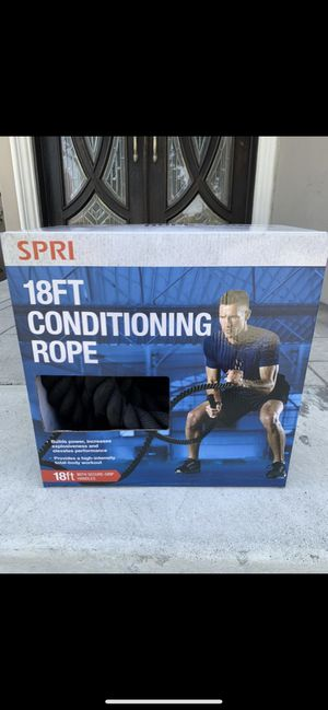Brand new 18 feet conditioning battle rope for boot camp deadlift gym workout weights exercise equipment for Sale in El Monte, CA