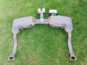 PORSCHE CAYMAN EXHAUST (2009-12) Rear Mufflers with Chrome Twin Tip & OEM Tail Pipe for Sale in San Diego, CA