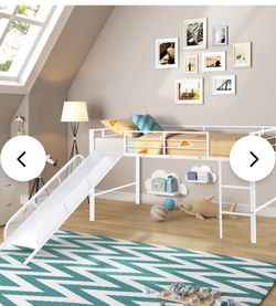 Twin Loft Bed With Slide for Sale in Franklinton,  NC