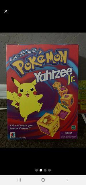 Vintage Pokemon Yahtzee Jr. for Sale in Avondale, AZ