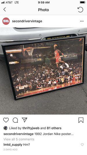 1992 Nike jordan poster for Sale in Joshua, TX