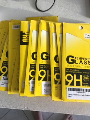 Lot of 10 glass for iphone x for Sale in Pompano Beach, FL