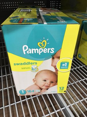 Baby pampers brand new in box great deal for Sale in Saint Paul, MN