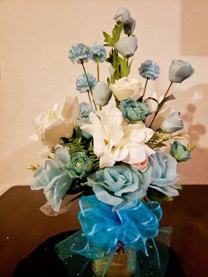 Artificial flower arrangement aqua blues for Sale in Hesperia, CA