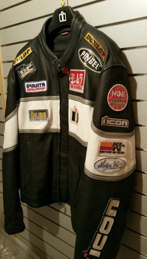 Icon Daytona motorcycle jacket Yamaha Honda Suzuki for Sale in Aurora, CO