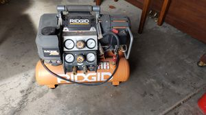 Ridgid 5 in 1 air compressor for Sale in Tracy, CA