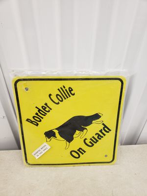 Border Collie Sign for Sale in Waltham, MA