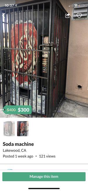 Coke machine for Sale in Lakewood, CA