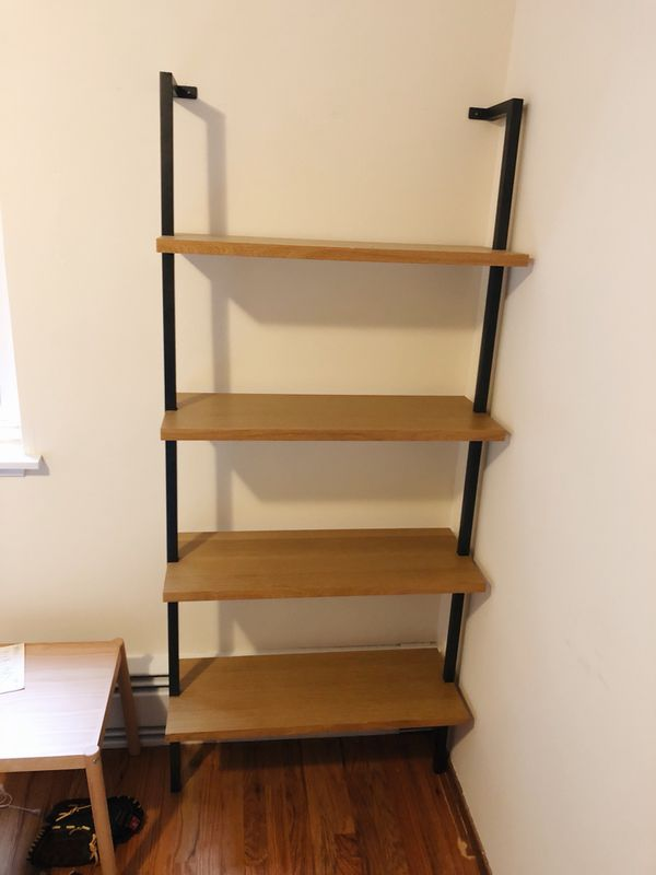 Cb2 Helix 70 Acacia Bookcase For