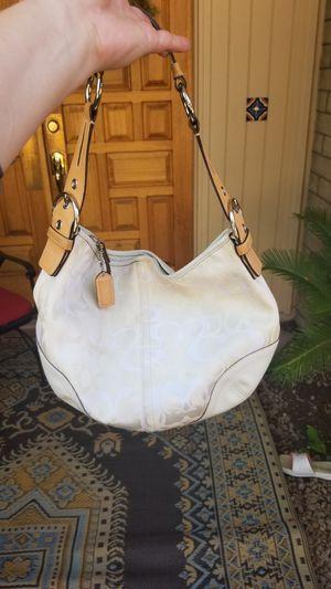 Coach Monogram White Bag for Sale in Scottsdale, AZ