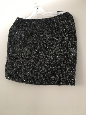 Skirt- mini, silk with silver beads- Vivian Tan high quality for Sale in Los Angeles, CA