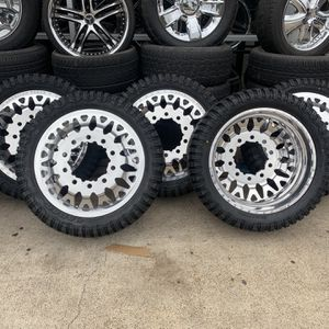 DUALLY POLISH AMERICAN FORCE WHEELS TIRES SALEE for Sale in Houston, TX
