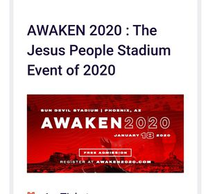 KANYE WEST AWAKEN TOUR for Sale in Phoenix, AZ