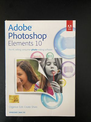 Adobe Photoshop Elements 10 for Sale in Brighton, CO