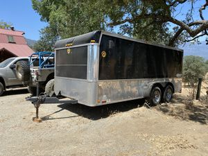 2008 enclosed trailer cargo double axle by homestead for Sale in Porterville, CA