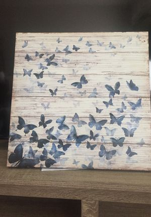 "18""x18"" butterfly wall art on canvas for Sale in Washington, DC"