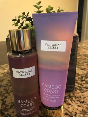 Victoria's Secret Bamboo Coast Fragrance Lotion and Mist for Sale in Alexandria, VA