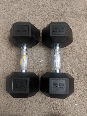 One set of 35lb dumbbells for Sale in Somerville, MA