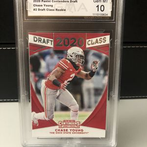 CHASE YOUNG Graded Mint 10 DRAFT CLASS ROOKIE CARD for Sale in Pompano Beach, FL