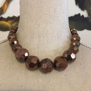 Faceted graduated copper glass bead necklace for Sale in Henderson, NV
