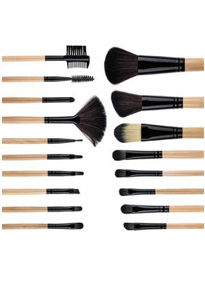 Brand new Makeup Brush Set, 18 Pieces Make Up Brushes + Makeup Sponge + Brushes Washing Egg Synthetic Foundation Blending Concealer Face Powder Blush for Sale in Arnold, MO