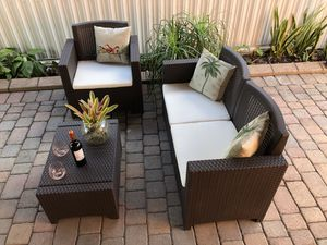 Italian outdoor patio furniture In its box 1 year warranty for Sale in Oakland Park, FL
