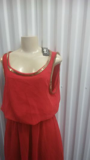 Red gold party dress size large for Sale in Washington, DC