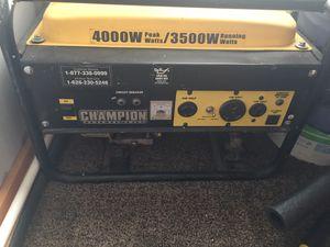 Champion Power Equipment. 4000W peak watts/3500W running watts. for Sale in White Mountain Lakes Estates, AZ