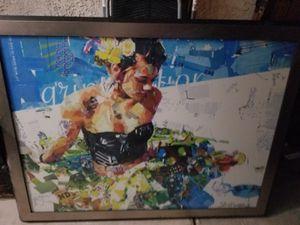 Collage artwork 36 x48 framed for Sale in Las Vegas, NV