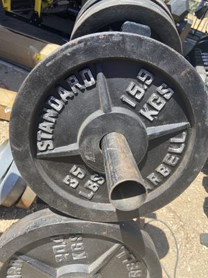 Pair of 35 lb Olympic Weight Plates for Sale in Scottsdale, AZ