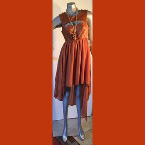 New vinyl brown and gold dress for Sale in El Paso, TX