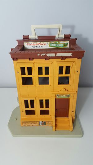 Vintage 1974 Fisher Price Play Family Sesame Street 938 House toy Elmo Big Bird for Sale in Webster, FL