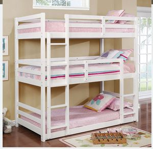 CMBK 589 TRIPLE TWIN BUNK BED MATTRESS NOT INCLUDED ORDER TODAY ☎️ 1714586*2564 for Sale in Anaheim, CA