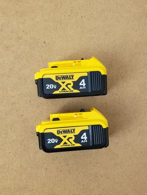 New (2) Batteries Dewalt XR4 for Sale in Woodbridge, VA