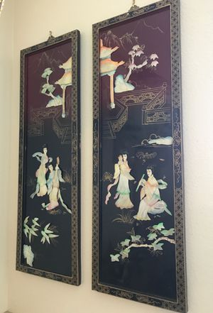 Japanese lacquered mother of Pearl pictures $80 for Sale in San Diego, CA