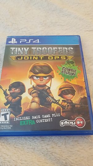 PS4 Tiny Troopers Joints ops game disc for Sale in Wauconda, IL