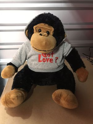 "Dan Dee Collectors Choice Black Brown Monkey Stuffed Plush 14"" GOT LOVE? Shirt for Sale in South Houston, TX"