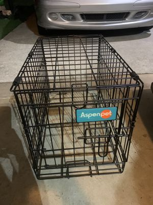 Our dog have outgrown this crate..small dog up to 15 lbs for Sale in Cumming, GA