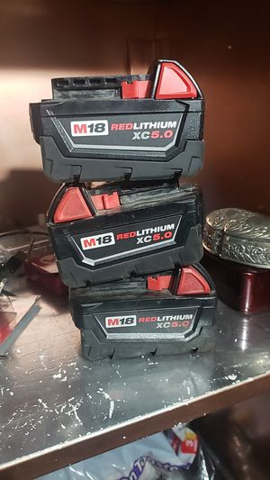 M18 5.0 batteries for Sale in Castro Valley, CA