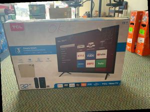 "Brand New TCL ROKU TV 32"" open box w/ warranty NAG for Sale in Fort Worth, TX"