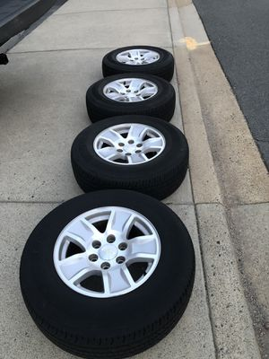 Chevy Silverado 17 inch wheels with tires for Sale in Gainesville, VA