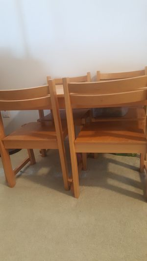 Kids table set with 4 chairs for Sale in Alexandria, VA