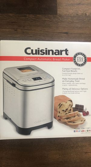 Cuisinart Bread Maker, Up To 2lb Loaf, New Compact Automatic - Brand New for Sale in Cerritos, CA