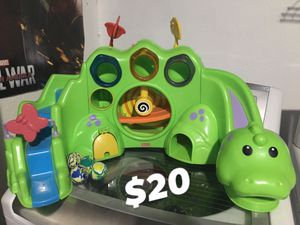 FISHER PRICE DROP N ROAR DINO DINOSAUR BALL DROP TOY LIGHTS UP PLAYS MUSIC BALLS INCLUDED for Sale in San Antonio, TX