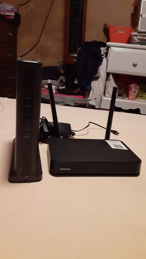 Dual band Netgear 47 router and Arris modem for Sale in North Las Vegas, NV