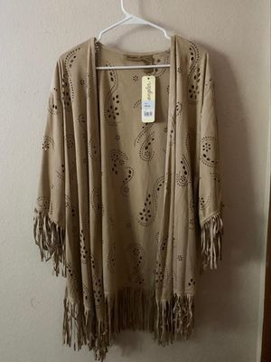 Suede fringe cardigan for Sale in Beaverton, OR